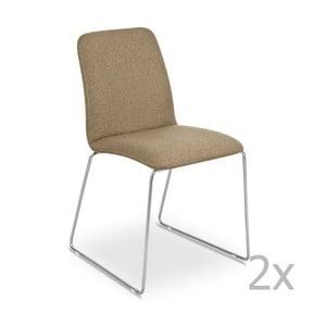 Zestaw 2   brązowych krzeseł Garageeight Finnoy