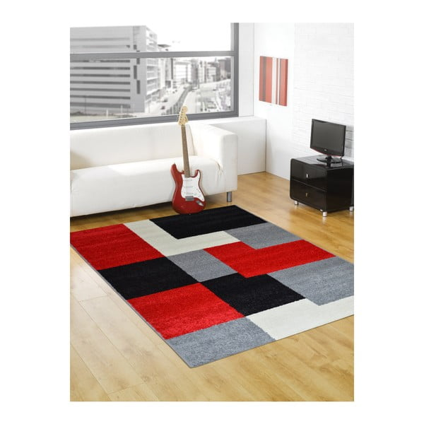 Dywan Flair Rugs Carré Red, 160x235 cm