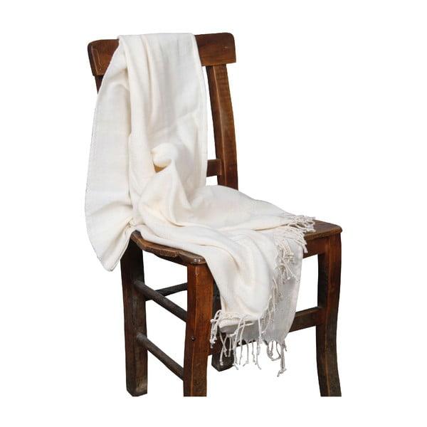 Kremowy ręcznik hammam Ipek Cream, 90x190cm