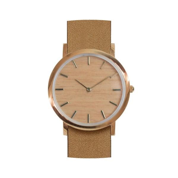 Drewniany zegarek z brązowym paskiem Analog Watch Co. Classic