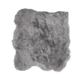 Szary dywan futrzany z krótkim włosiem Busta, 90x80cm