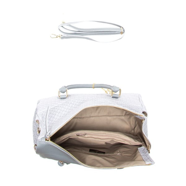 Skórzana torebka Carla, szara