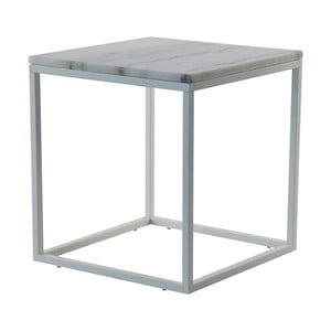 Marmurowy stolik z szarą konstrukcją RGE Accent, 55x55cm