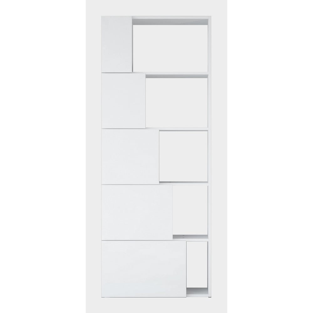 Biała biblioteczka Skipper, wys. 166 cm