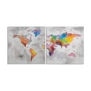 Zestaw 2 ręcznie malowanych obrazów Mauro Ferretti Crazy World, 100x100cm