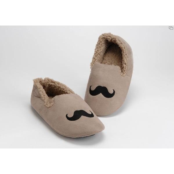 Kapcie Moustache Taupe, 44/45