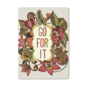 "Plakat ""Go For It"", Valentina Ramos"