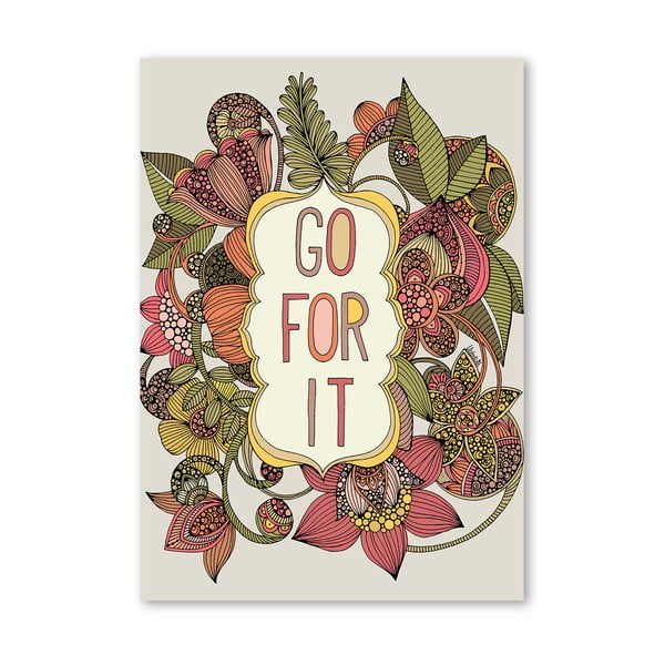 "Plakat ""Go For It"", Valentina Ramos"