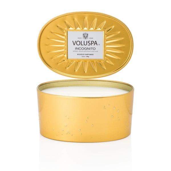 Świeczka o zapachu olejku z drzewa agarowego, ambry i czarnej paczuli Voluspa Vermeil Decorative, 50godz.