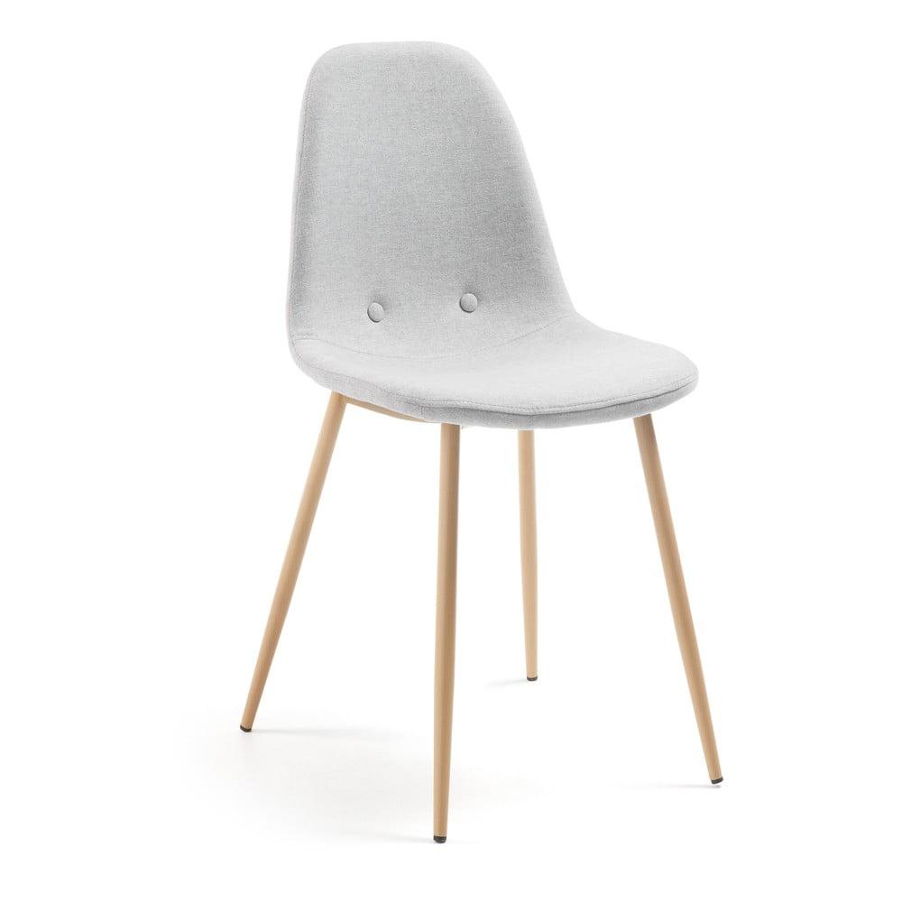 Jasnoszare krzesło La Forma Lissy