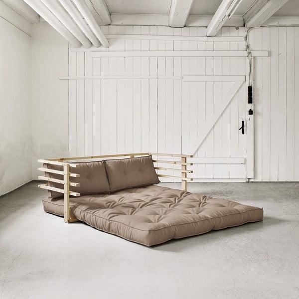 Rozkładana sofa dwuosobowa Karup Funk Natural/Vision