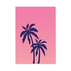 Plakat Palm Tree Pink