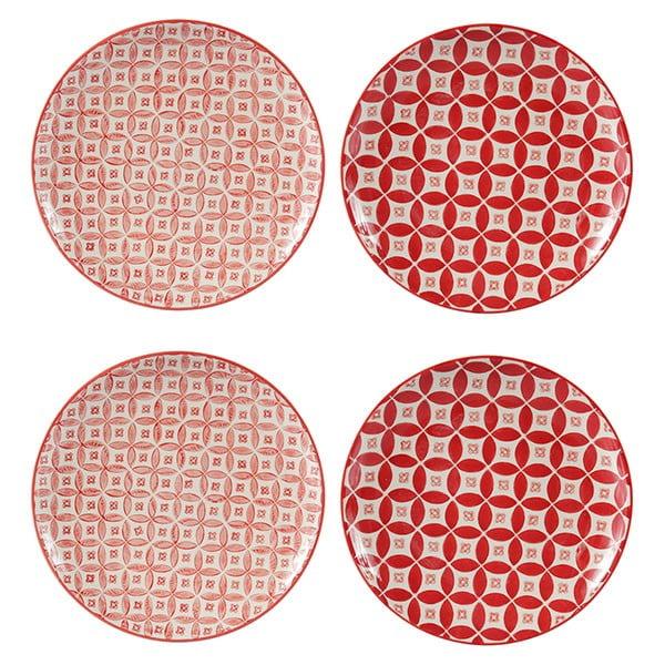 Zestaw 4 porcelanowych talerzy Rubis, 20,5 cm