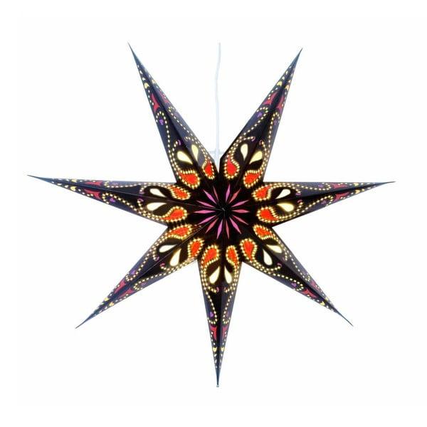 Świecąca gwiazda ze stojakiem Siri Black, 70 cm