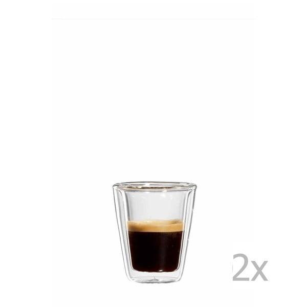 Zestaw 2   szklanych kubków na espresso bloomix Milano