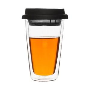 Dwuściankowy termokubek z sitkiem na herbatę Clear