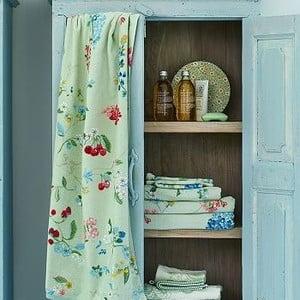 Zielony ręcznik Pip Studio Hummingbirds, 55x100 cm