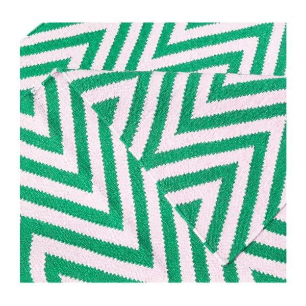 Dywan wełniany Zig Zag Green, 200x140 cm