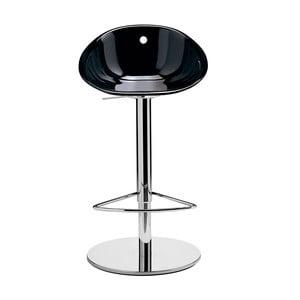 Czarne krzesło barowe Pedrali Gliss