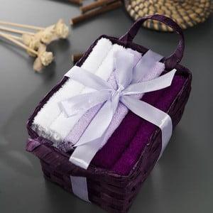 Zestaw 6 ręczników Hill Purple, 30x30 cm