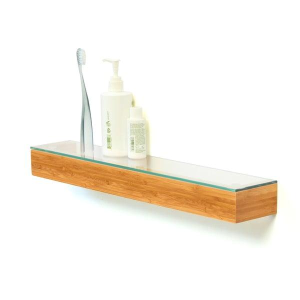 Półka ze szklanym blatem Bamboo, 55 cm