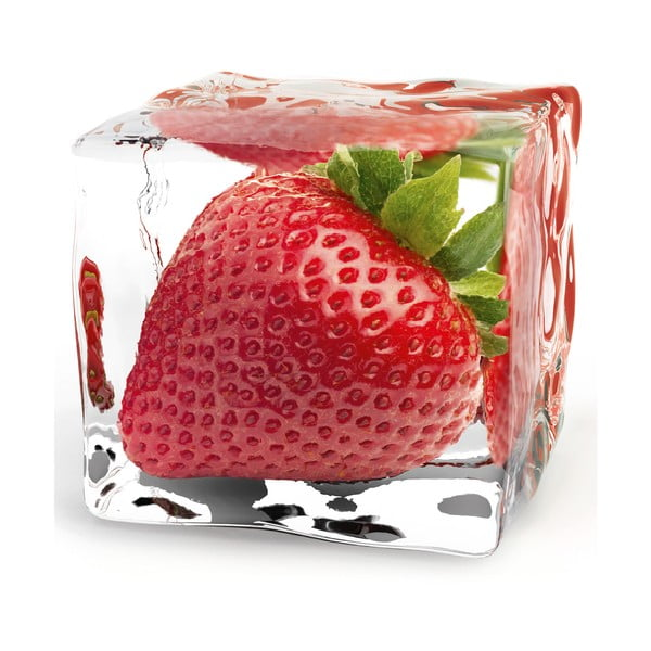 Szklany obraz Iced Strawberry, 20x20 cm