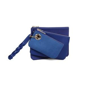 Zestaw 3 niebieskich kopertówek ze skóry ekologicznej Beverly Hills Polo Club Clara