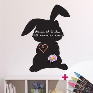 Tablica samoprzylepna z 4 kredowymi mazakami Fanastick Shadow of Rabbit