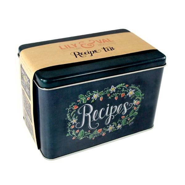 Pudełko   na przepisy z 6 zakładkami Lily and Val by Portico Designs
