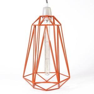 Pomarańczowa lampa wisząca z szarym kablem Filament Style Diamond #5