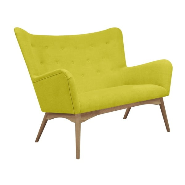 Żółta sofa 2-osobowa Helga Interiors Karl