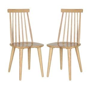 Zestaw 2 krzeseł Accent Natural