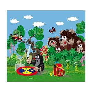 Foto zasłona AG Design Krecik i niedźwiadki, 160x180cm