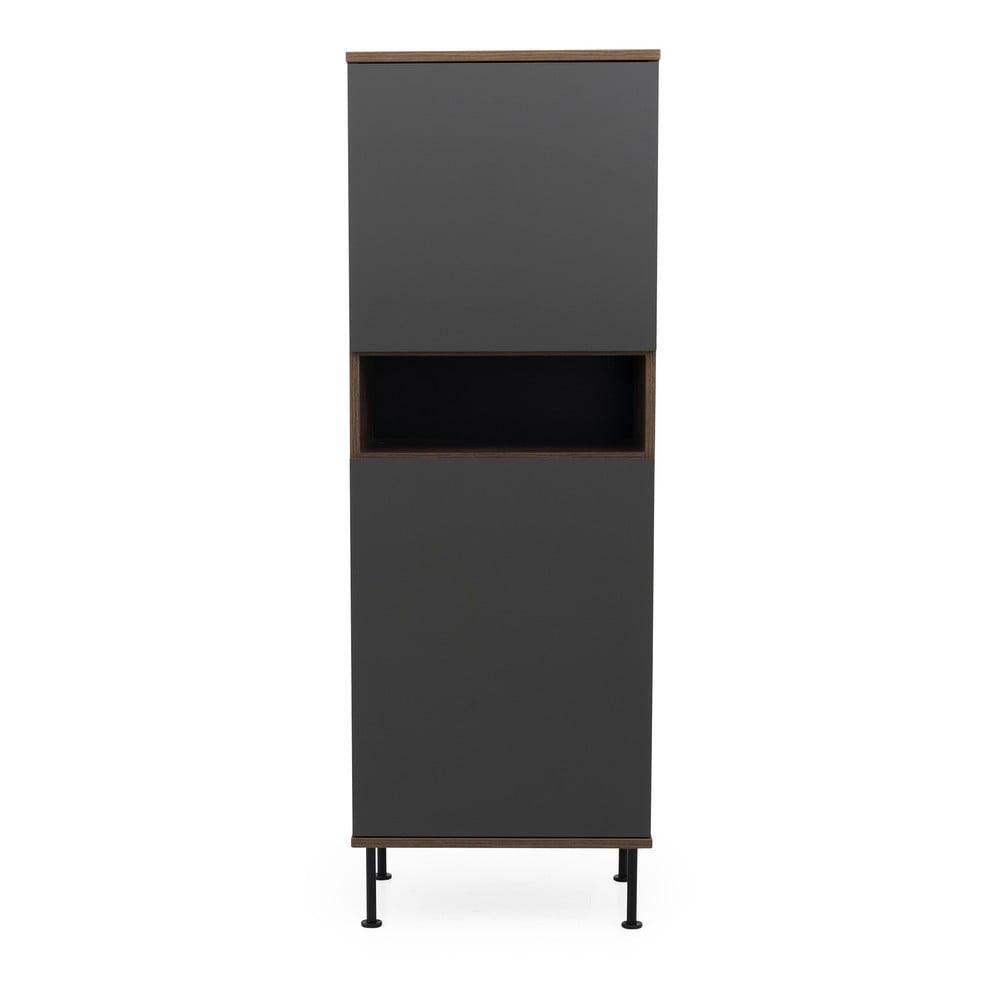 Antracytowa szafka Tenzo Daxx, 56x161 cm