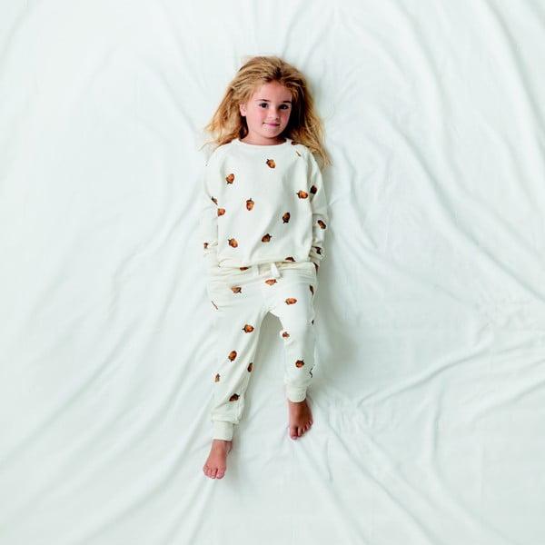 Białe spodnie dziewczęce Snurk Winternut, 140