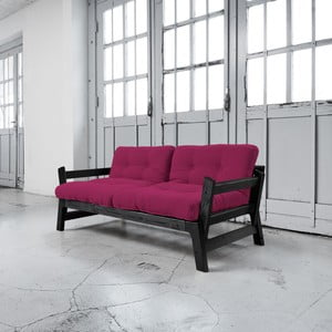 Sofa rozkładana Karup Step Black/Pink
