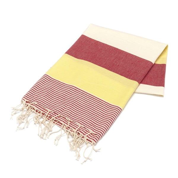 Ręcznik hammam American Fouta Yellow, 100x180 cm