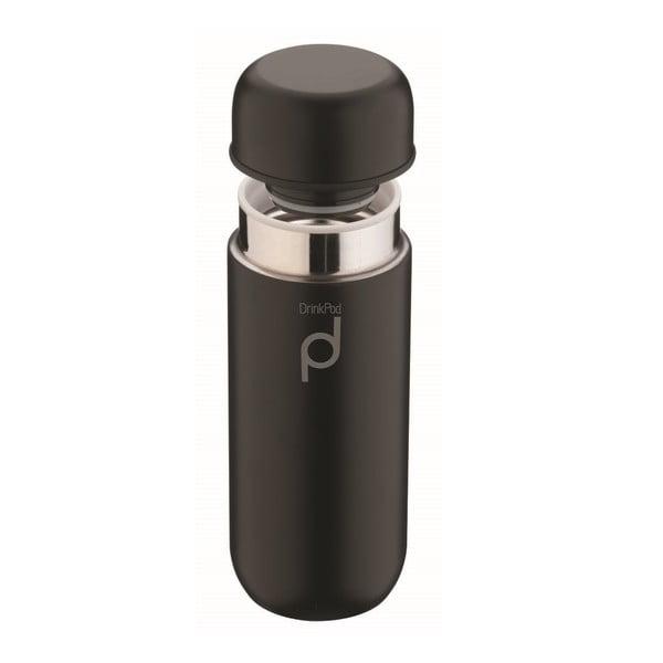Czarny termos Pioneer Vacuum, 200 ml