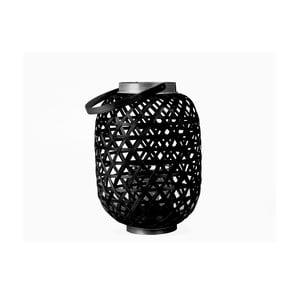 Czarny lampion Present Time Lattice, wysokość27cm