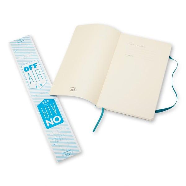 Notatnik Moleskine Soft 13x21 cm, niebieski