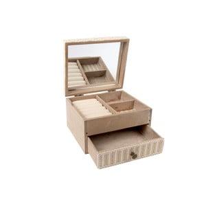 Drewniana szkatułka na biżuterię z lusterkiem Cottage
