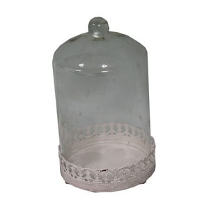 Taca ze szklanym kloszem Antic Line Bell, 18x10,5 cm