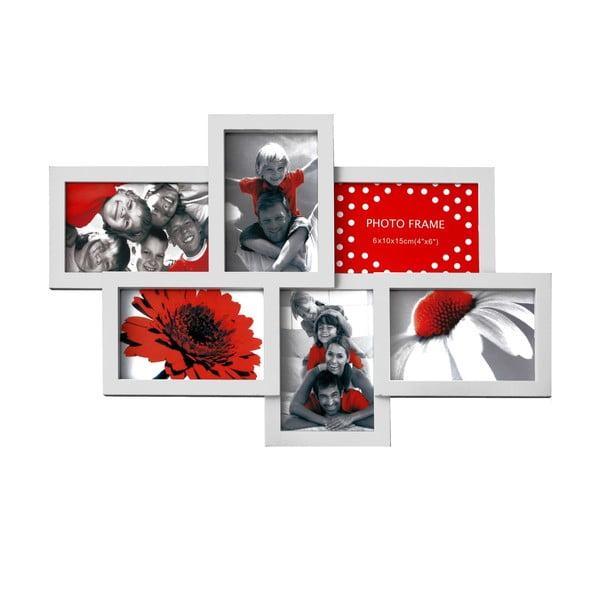 Połączone ramki na 6 zdjęć Photo, białe