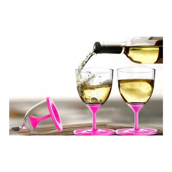 Komplet lampek do wina Stack N' Go Vino, różowy