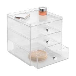 Przezroczysty organizer InterDesign Drawers, 3 szuflady