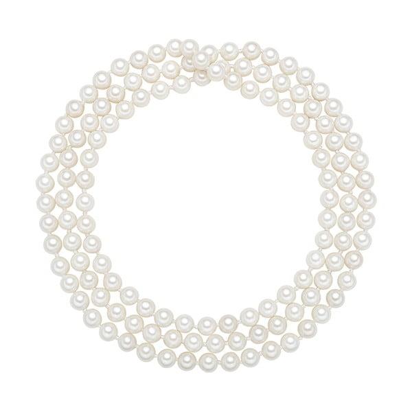Naszyjnik z białych pereł ⌀ 6 mm Perldesse Muschel, długość 90 cm