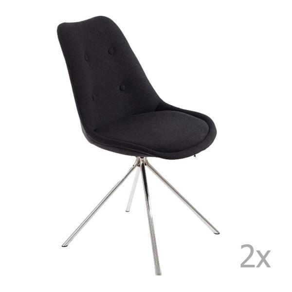 Zestaw 2 szarych krzeseł 13Casa Lars