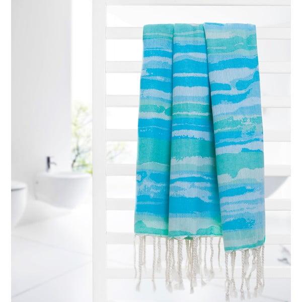 Ręcznik hammam Brush, turkusowy