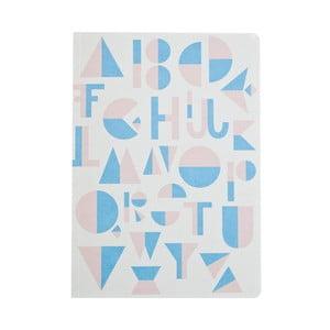 Jasnoniebieski notes Michelle Carlslund Alphabet