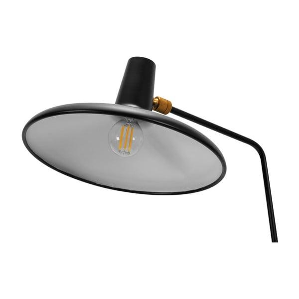 Czarna lampa stojąca Garageeight Eli